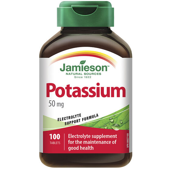 Jamieson Potassium 50 mg - 100's