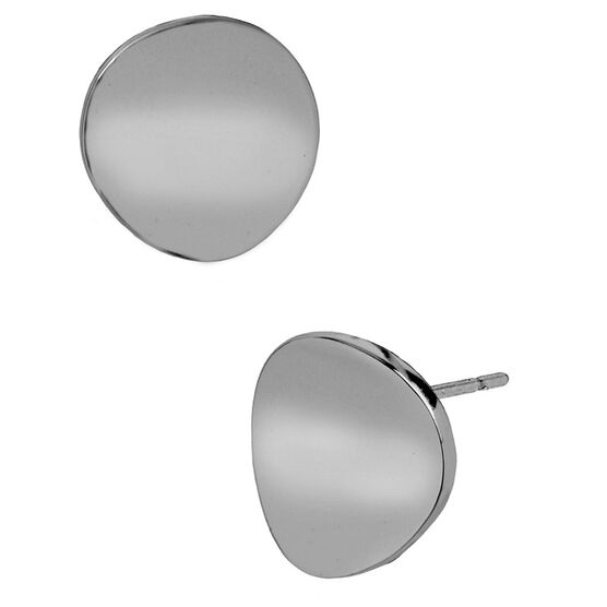 Robert Lee Morris Concave Round Stud Earrings - Silver