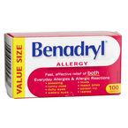 Benadryl Allergy Caplets - 25mg - 100's