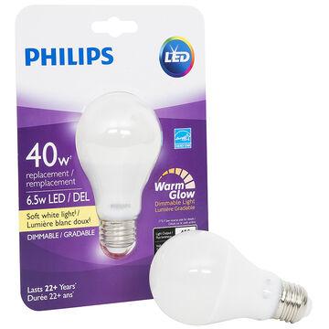 Philips Real LED Bulb A19 - Soft White - 6.5w=40w