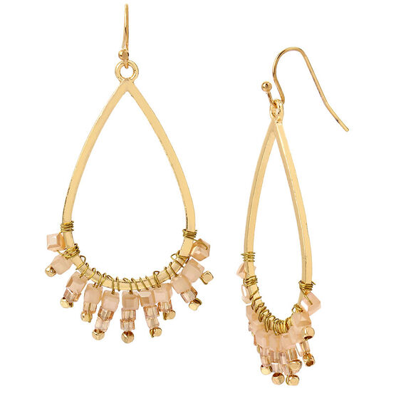 Haskell Teardrop Earrings - Berry/Gold