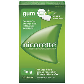 Nicorette Gum - Ultra Fresh Mint - 4mg - 30's
