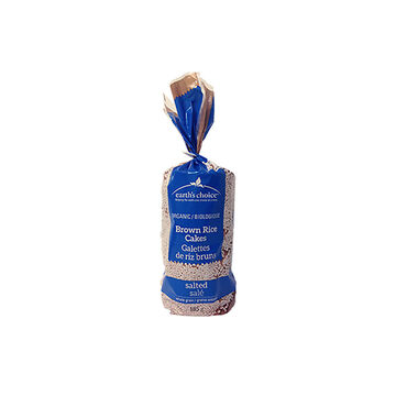 Earth's Choice Organic Rice Cakes - Brown Rice - Salted