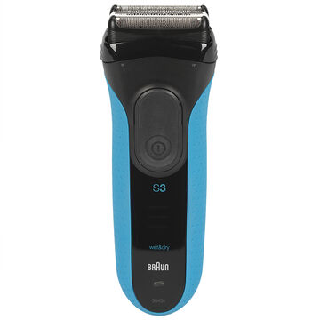 Braun Series 3-3040 Wet/Dry Shaver - Black/Blue - 87335