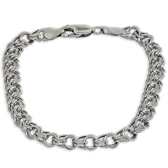 "Double Link Bracelet 14K, 7.5"""