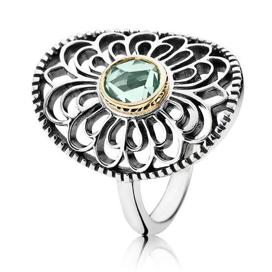PANDORA Vintage Allure Spinel Ring, Silver & 14K