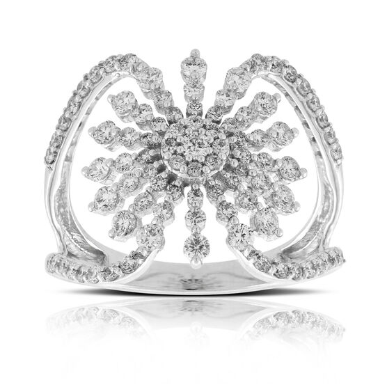 Diamond Sunburst Ring 14K