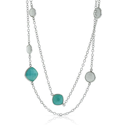 Lisa Bridge Amazonite & White Agate Necklace