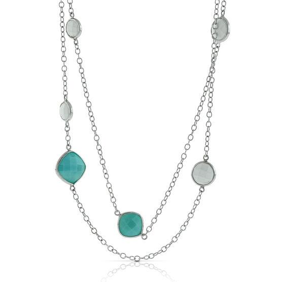 Lisa Bridge Amazonite & White Agate Necklace
