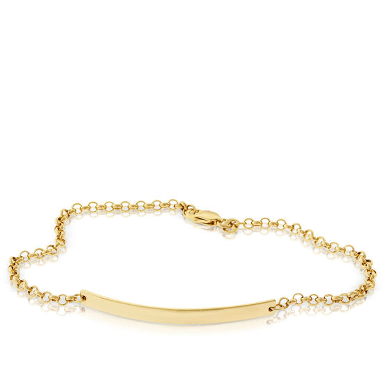 Engravable Bar Bracelet 14K