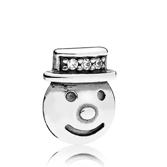PANDORA Happy Snowman CZ Petite Charm