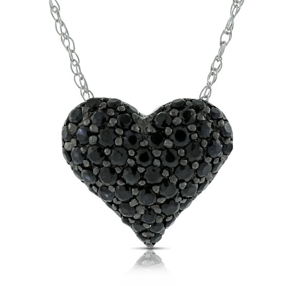 Black Sapphire Pendant 14K