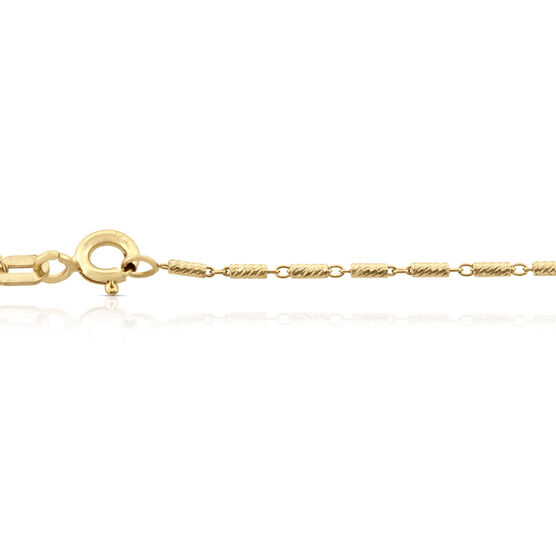Tubetto Diamond Cut Chain 14K, 20""