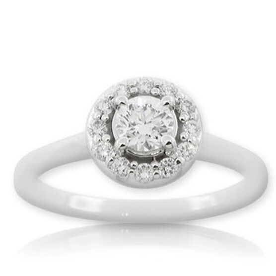 Forevermark Diamond Ring 14K, 3/8 ct. center