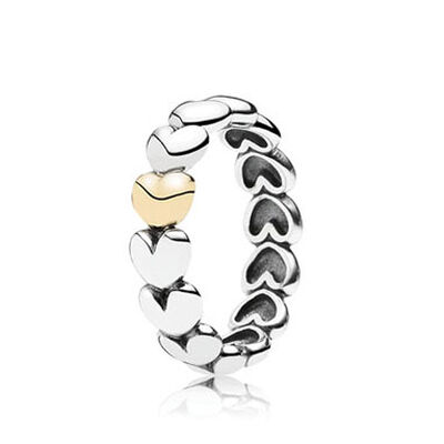 PANDORA MY ONE TRUE LOVE RING, SILVER & 14K