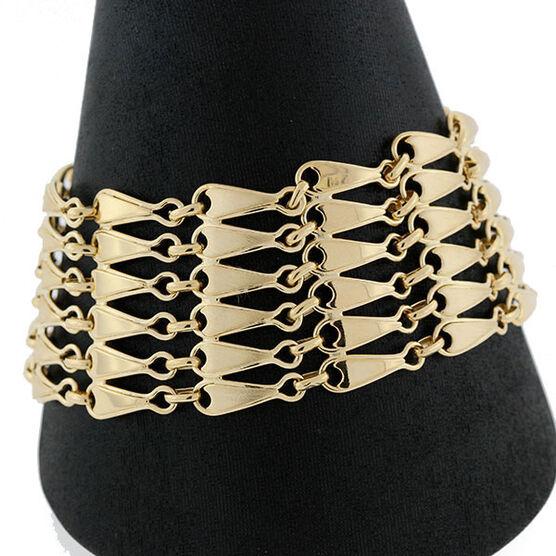 Toscano Collection Multi Row Bracelet 14K