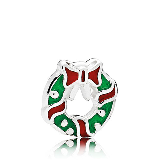PANDORA Holiday Wreath Enamel Petite Charm