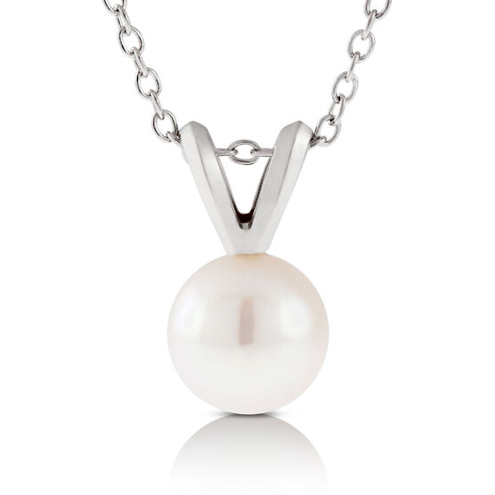 Akoya Cultured Pearl Pendant 6mm, 14K