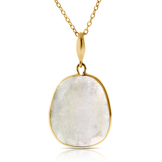 Lisa Bridge Rainbow Moonstone Pendant 14K