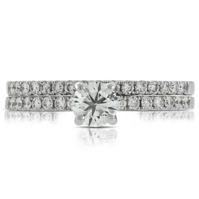 Classic Diamond Wedding Set 14K