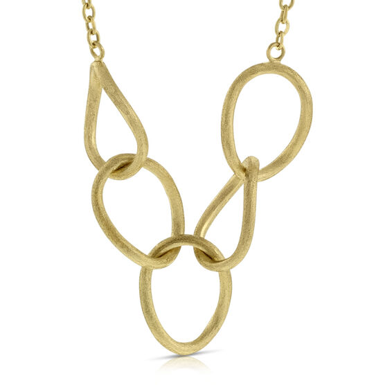 Toscano Satin Link Necklace 14K