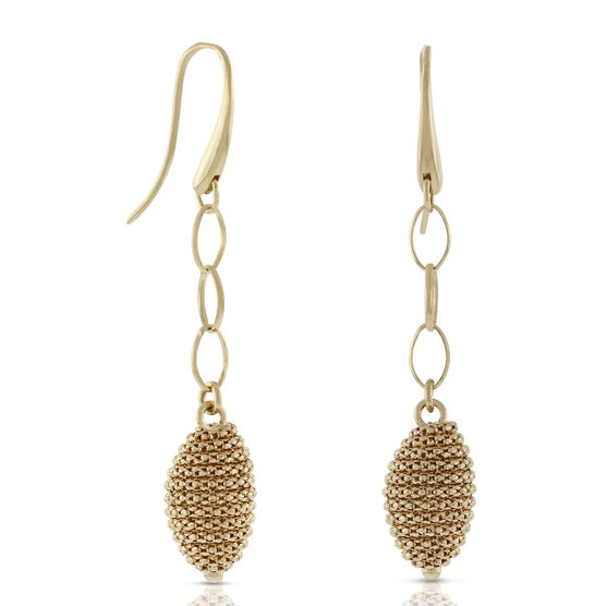 Toscano Collection Beaded Dangle Earrings 18K