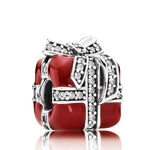 PANDORA Sparkling Surprise Red Enamel Charm