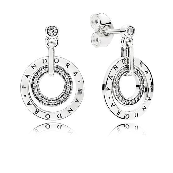 PANDORA Circles Drop CZ Earrings