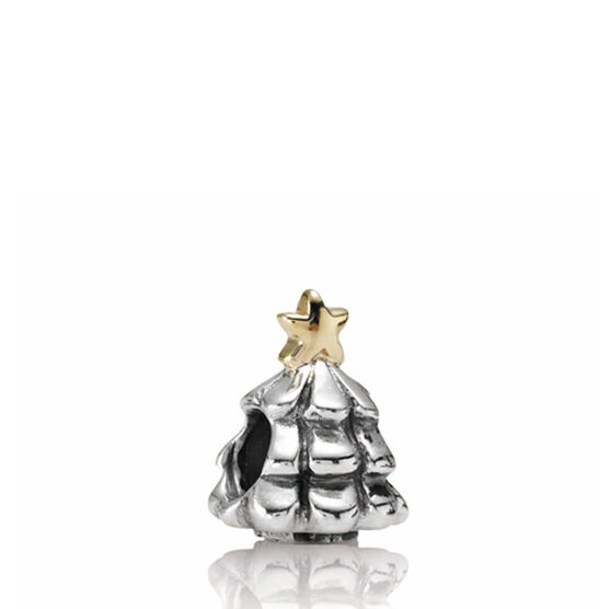 PANDORA Christmas Tree Charm, Silver & 14K