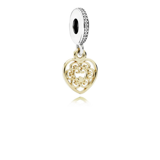 PANDORA Magnificent Heart Charm, Silver & 14K