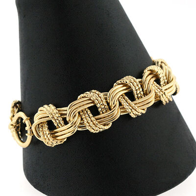 Toscano Triple Links Bracelet 14K