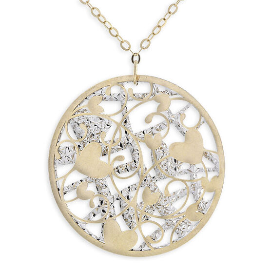 Round Cut-Out Pendant 14K