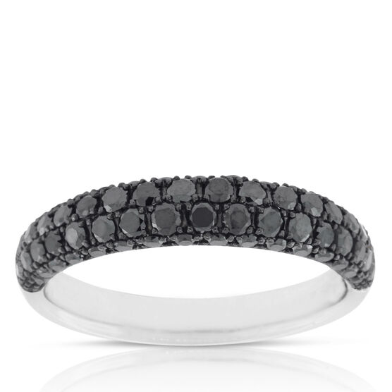 Black Diamond Pave Ring 14K,  Size 7