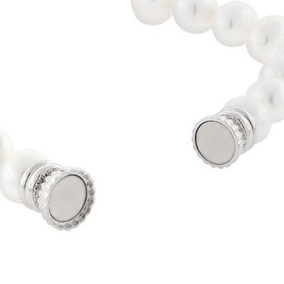 "Freshwater Cultured Pearl Bracelet Sterling Silver 8"""