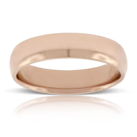 Rose Gold 5mm Wedding Band 14K