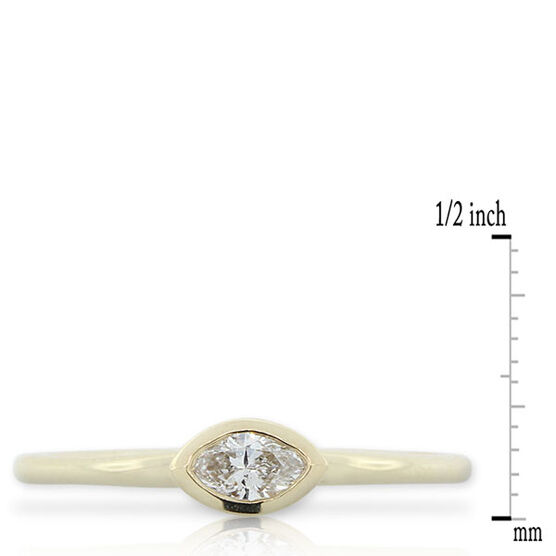 Diamond Stackable Ring 14K Yellow Gold