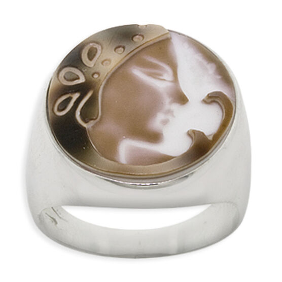 Toscano Shell Cameo Ring 18K