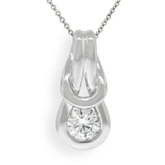 Everlon™ Diamond Knot Collection Pendant 14K