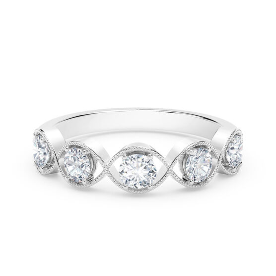 The Forevermark Tribute™ Collection Braided Five Stone Ring 18K