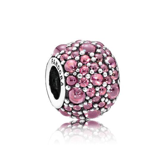 PANDORA Shimmering Droplets Pink CZ Charm