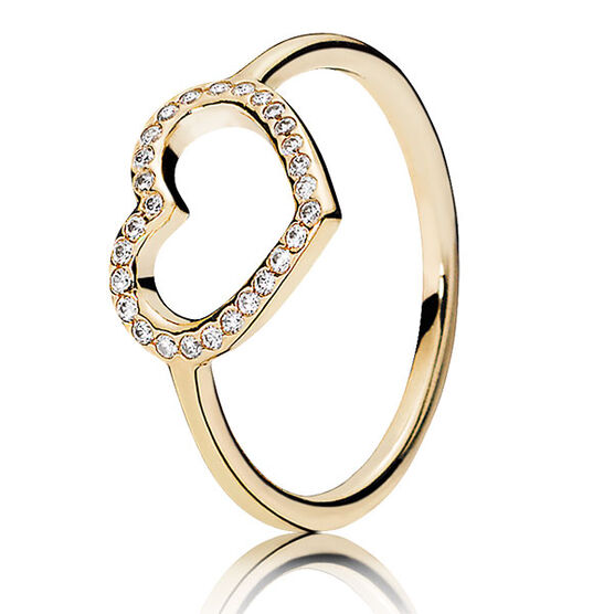 PANDORA CAPTURED HEART RING 14K