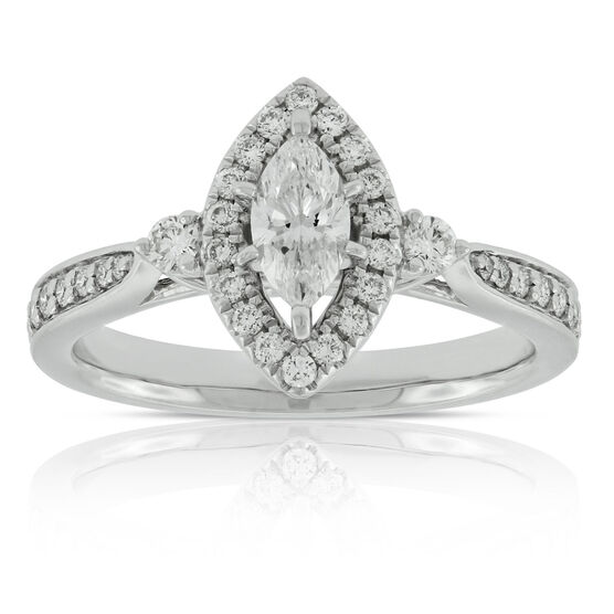 Marquise Diamond Ring 14K