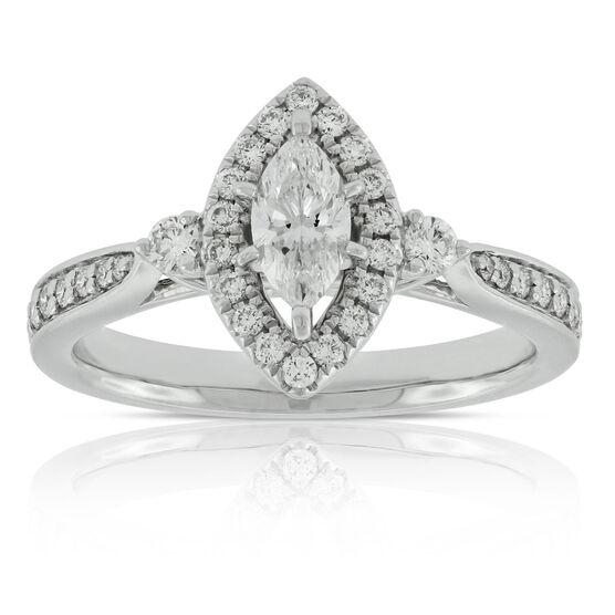 Marquise Diamond Ring 14K