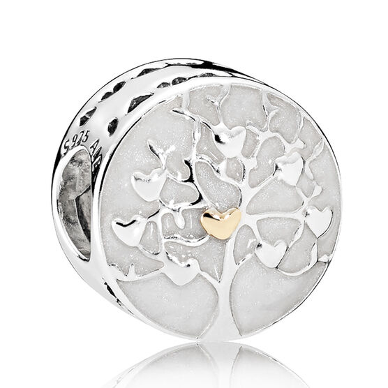 PANDORA Tree of Hearts Charm, Silver & 14K