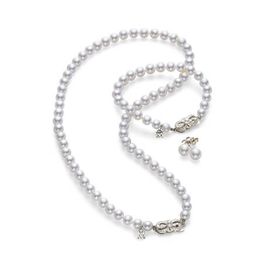 Mikimoto Akoya Cultured Pearl Set, A1, 18K
