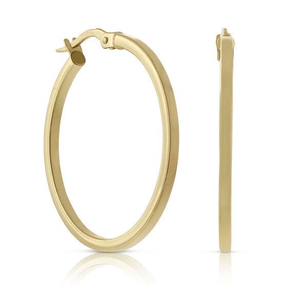 Toscano Polished Hoop Earrings 18K