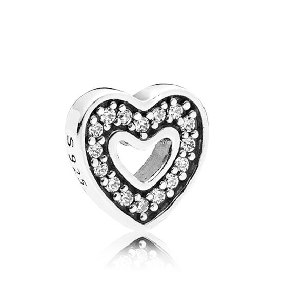 PANDORA Captured Heart Petite Element CZ Charm