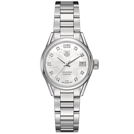 TAG Heuer Carrera Calibre 9 Diamond Watch, 28mm
