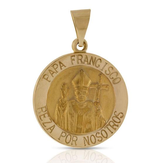 Papa Francisco Medal 14K