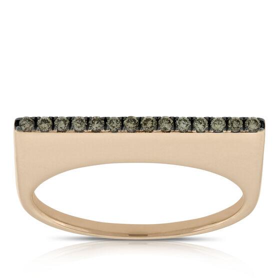 Rose Gold Brown Diamond Ring 14K